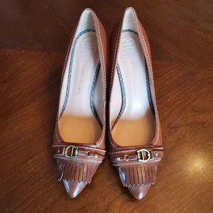 Etienne Aigner  camel tan leather low heel